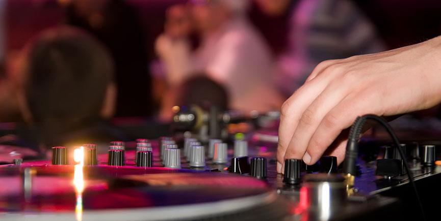 DJ playing vinyl