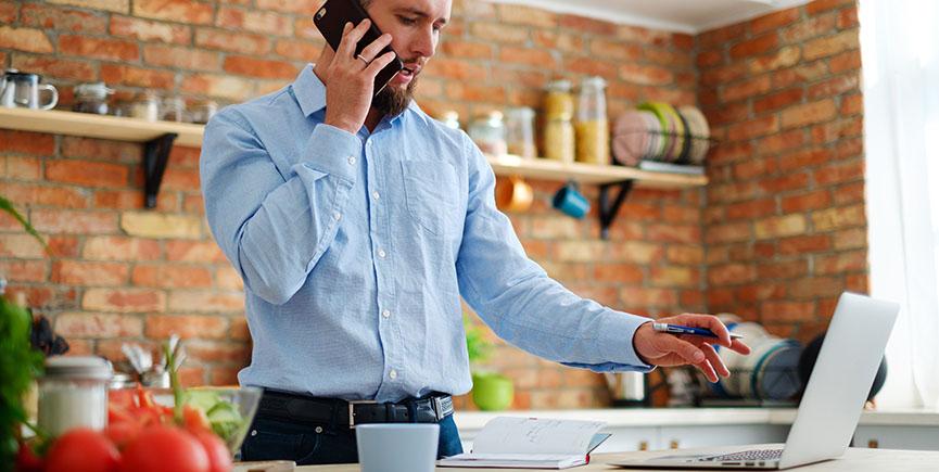 Man making order in online shop