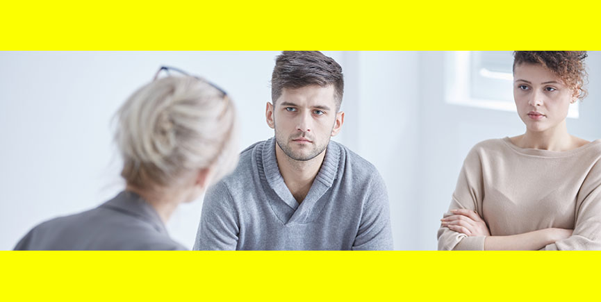 Relationship psychologist mediating young marriage
